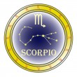 Stock Vector: Zodiac sign scorpio
