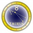 Stock Vector: Zodiac sign taurus