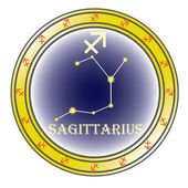 Zodiac sign sagittarius — Stock Vector