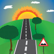 Road to the horizon — Stock Vector