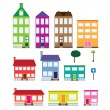 Set of houses. - Stock Vector
