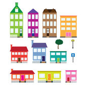 Set of houses. — Stock Vector