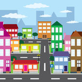 View of city. — Stock Vector