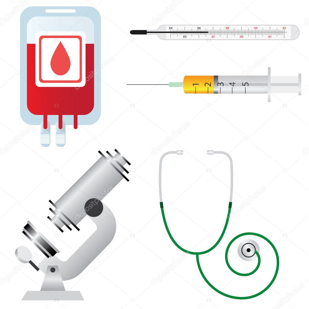 Medical equipment. - stock illustration