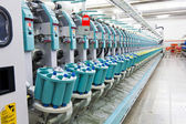 Textile spinning factory — Stock Photo