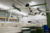Yarn manufacturing machine — Stock Photo