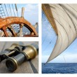 Sails and the sea — Stock Photo