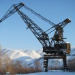 The elevating crane — Stock Photo