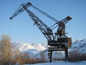 The elevating crane — Stock Photo