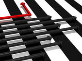 Black-and-white strips — Stock Photo