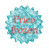 Button Icon: Price frozen — Stock Photo