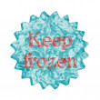 Button Icon: Keep frozen — Stock Photo