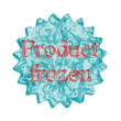 Button Icon: Product frozen — Stock Photo