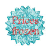 Button Icon: Prices frozen — Stock Photo