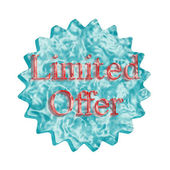 Button Icon: Limited Offer — Stock Photo