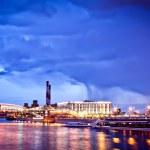 paysage urbain de Moscou nuit — Photo