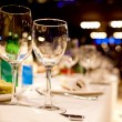 Empty glasses setting — Stock Photo