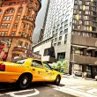 Taxi Cab in city — Stock Photo #6577651
