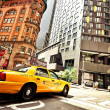 Stock Photo: Taxi Cab in city