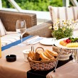 Summer terrace cafe setting — Stock Photo #6577734