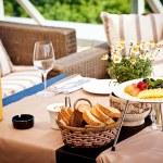 Summer terrace cafe setting — Stock Photo #6577734