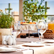 summer terrace cafe setting — Stock Photo
