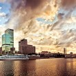 Moscow cityscape at sunset — Stock Photo #6577784
