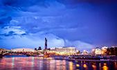 Night Moscow cityscape — Stock Photo