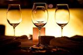 Configuração de copos vazios — Foto Stock