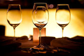 Empty glasses setting — Stockfoto