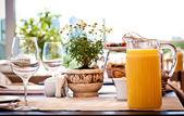Sommer Terrasse Café Einstellung — Stockfoto