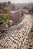 Moscow view with tilt-shift effect — Stock Photo