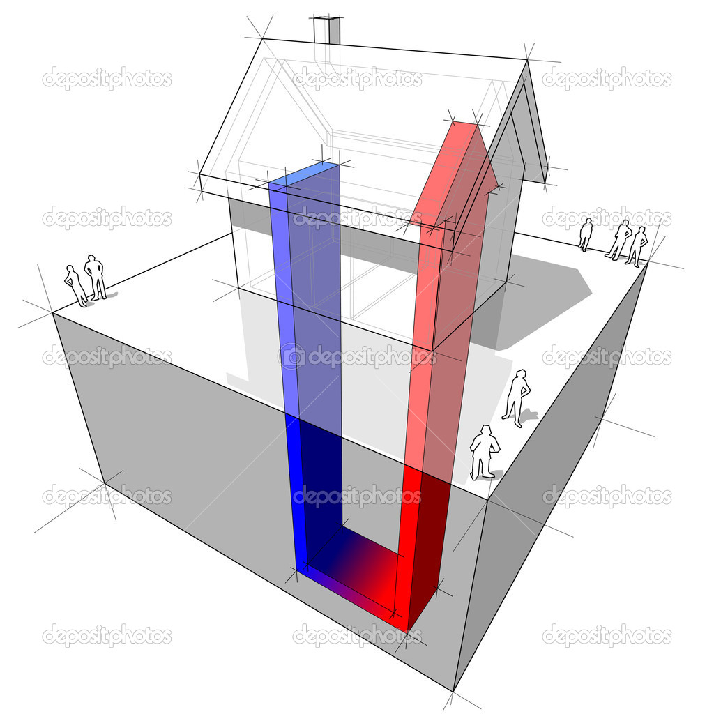 Geothermal Energy Diagram Geothermal heat pump diagram
