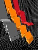 Diagramma di affari — Vettoriale Stock