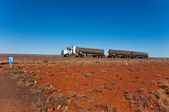 Road train — Stock Photo