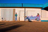 Murales at Coober Pedy, outback south australia — Stock Photo