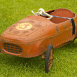 Old Red Pedal Car Number 3 — Stock Photo