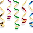 Party streamers. Vector isolated object — Vettoriali Stock