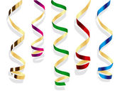 Party streamers. Vector isolated object — Stock Vector
