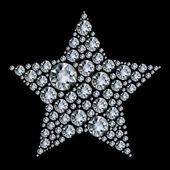 Star in diamonds. — Stock Vector