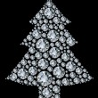 Stock Vector: Christmas tree made from diamonds.