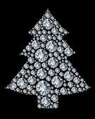 Christmas tree made from diamonds. — Stock Vector