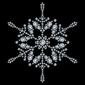 Snowflake made from diamonds. vector illustration — Stock Vector