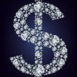 Dollar symbol in diamonds. — Vetor de Stock  #6357490