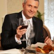 Man At Restaurant — Stock Photo #5484189