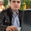 Стоковое фото: Casual Young MWith His Laptop