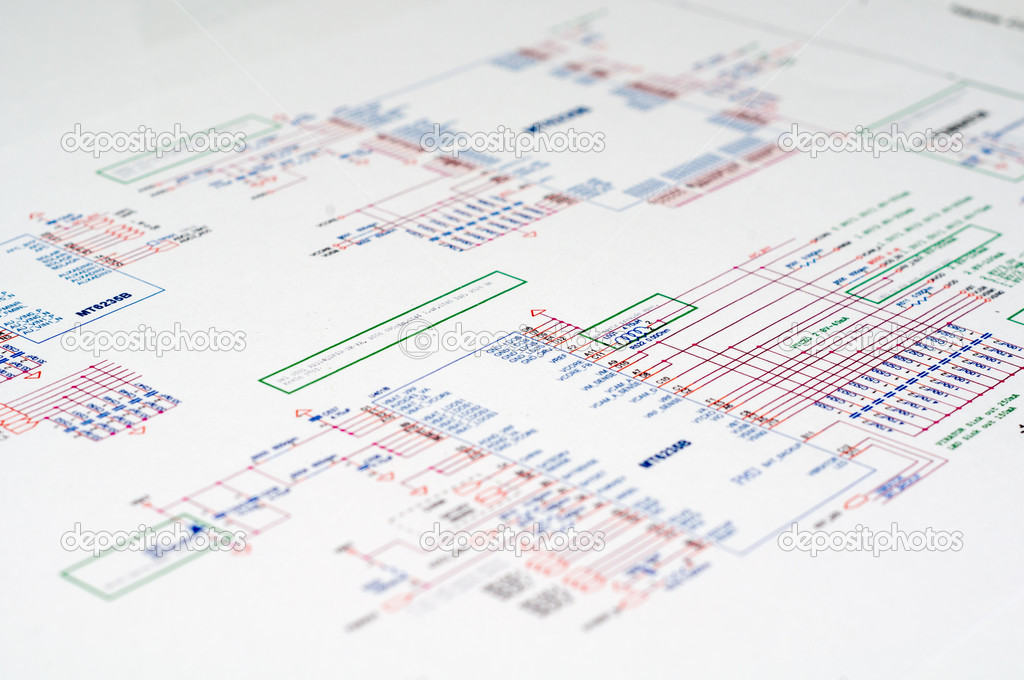Detailed technical drawing with a lot of calculations. — Stock Photo #6409420