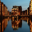 Hamburg warehouse district — Stock Photo