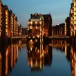 Hamburg warehouse district — Stock Photo #6029580