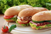 Three Sandwiches — Stock Photo